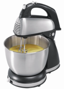 Hamilton Beach 64650 6-Speed Classic Stand Mixer, Stainless Steel