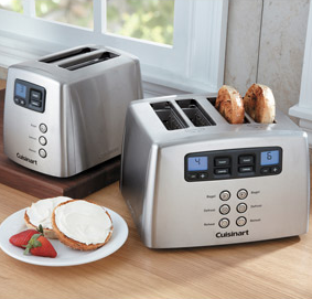 Cuisinart CPT-440 Touch to Toast Leverless 4-Slice Toaster Review - also 2-slice model available