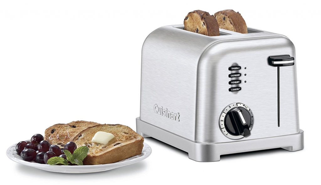 Cuisinart CPT-160 Metal Classic 2-Slice Toaster - bread and bagels