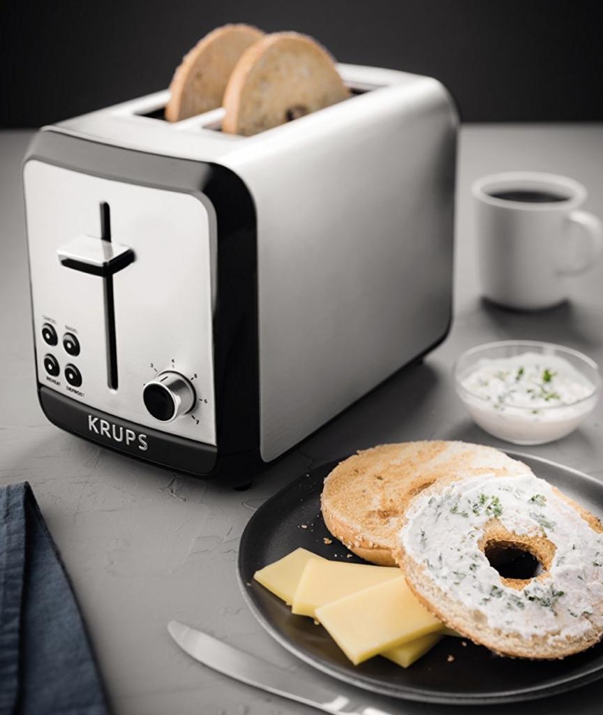 KRUPS KH3110 SAVOY Brushed Stainless Steel Toaster - healthy breakfast