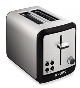 KRUPS KH3110 SAVOY Brushed Stainless Steel Toaster with Bagel Function